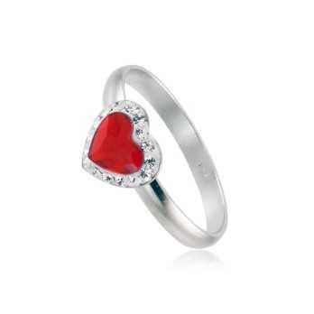 Anello in argento con cuore rosso Le Meraviglie Anelli Donna ANAGCU26