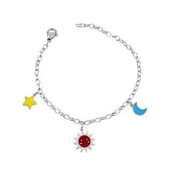 Bracciale bimba con sole stella luna Le Meraviglie Bracciali Kids BRACPU03