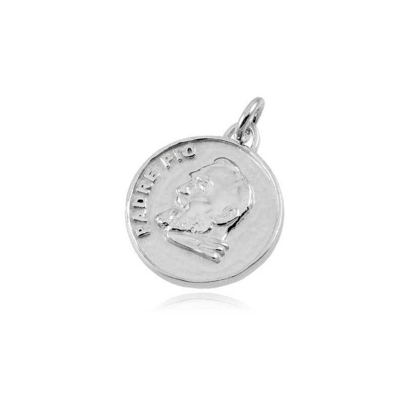 Medaglia San Pio in argento 925 Zoppi Gioielli bijoux Croci e Medaglie MD17AGSP
