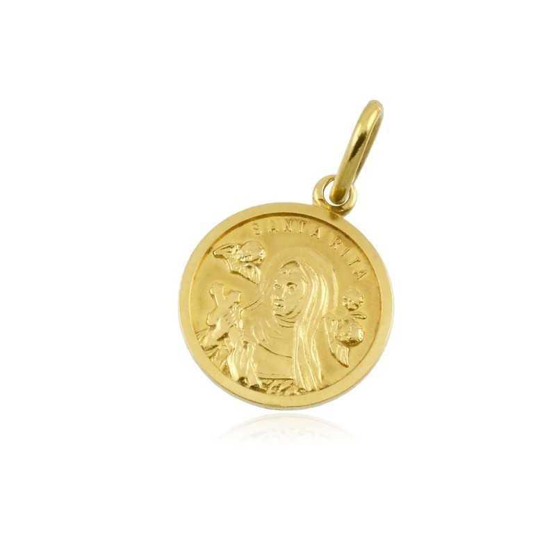 Medaglia Santa Rita in oro Zoppi Gioielli jewelry Croci e Medaglie MDSR235OR