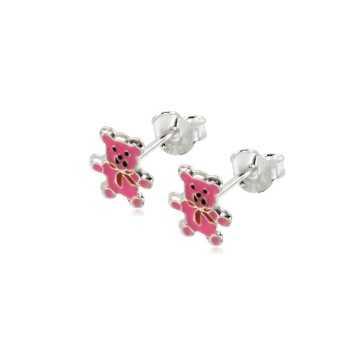 Orecchini bimba con orsetto rosa Le Meraviglie Orecchini Kids ORAGFI09