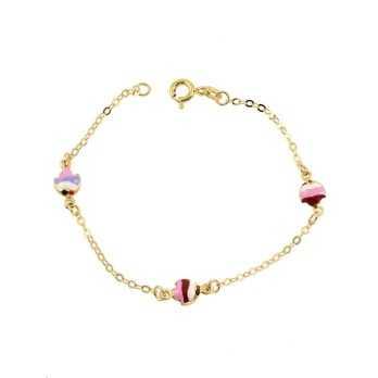 Bracciale baby in oro con pesciolini Zoppi Gioielli jewelry Bracciali Kids BRB14OR