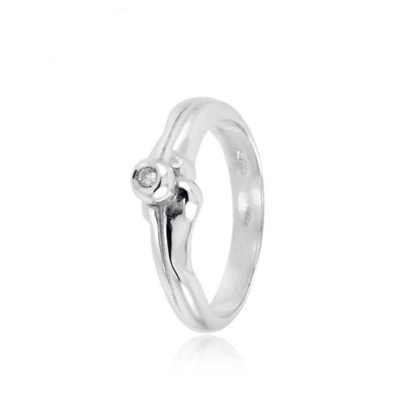 Anello solitario in oro e diamante 0,03ct Zoppi Gioielli jewelry Anelli oro diamanti AN003031