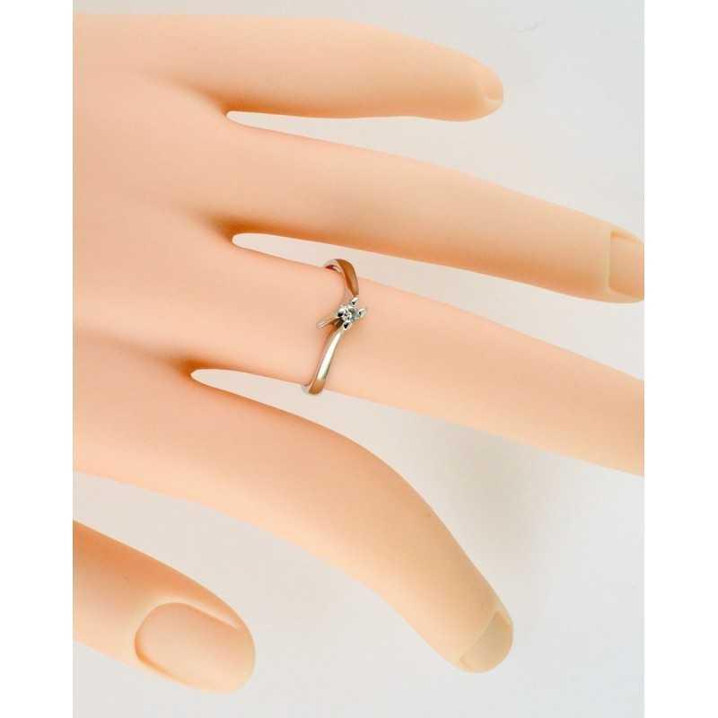 Anello solitario in oro e diamante 0,08ct Zoppi Gioielli jewelry Anelli oro diamanti AN008019