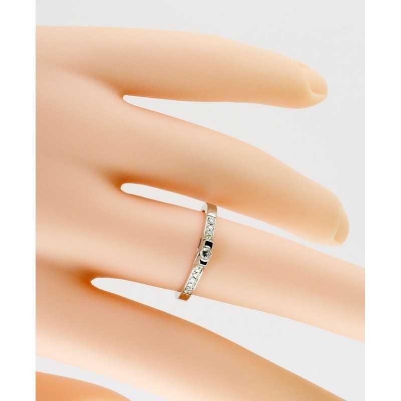 Anello solitario in oro e diamanti 0,15ct Zoppi Gioielli jewelry Anelli oro diamanti AN015017
