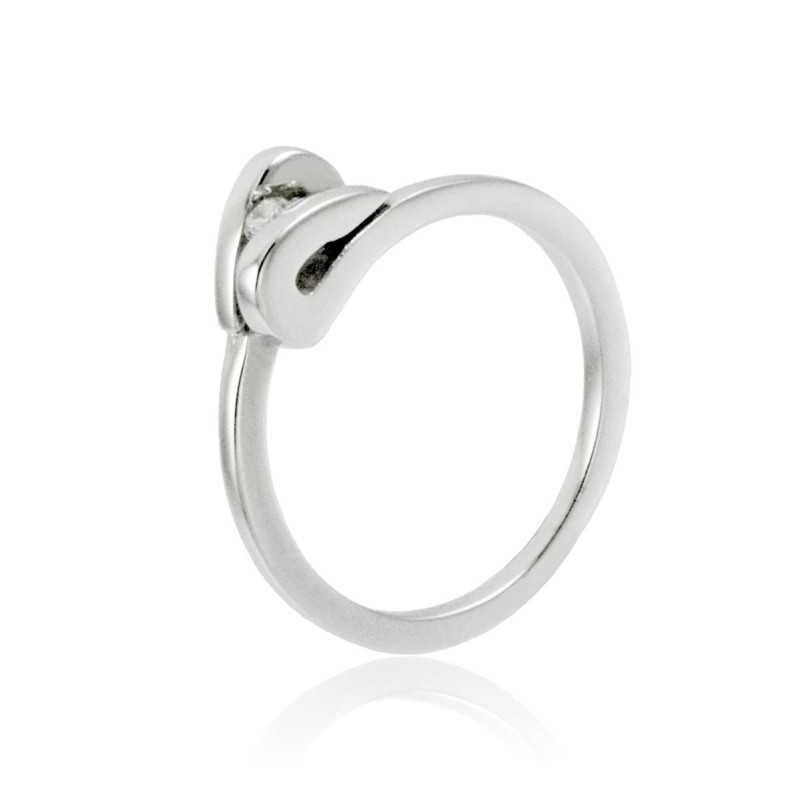 Anello solitario in oro e diamante 0,05ct Zoppi Gioielli jewelry Anelli oro diamanti AN005014