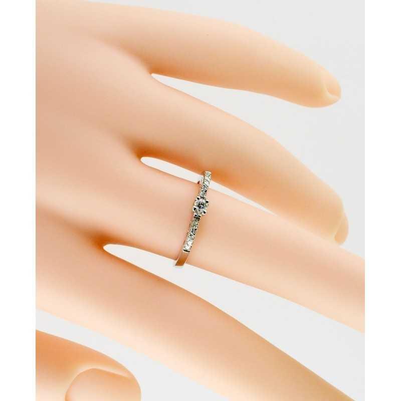 Anello solitario in oro e diamanti 0,17ct Zoppi Gioielli jewelry Anelli oro diamanti AN017018