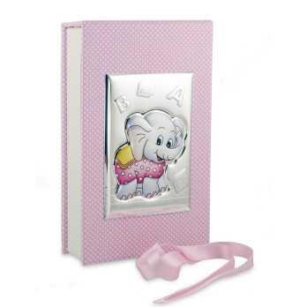 Set pappa elefante rosa in argento Valenti & co. Prima Infanzia RB-VA75041R