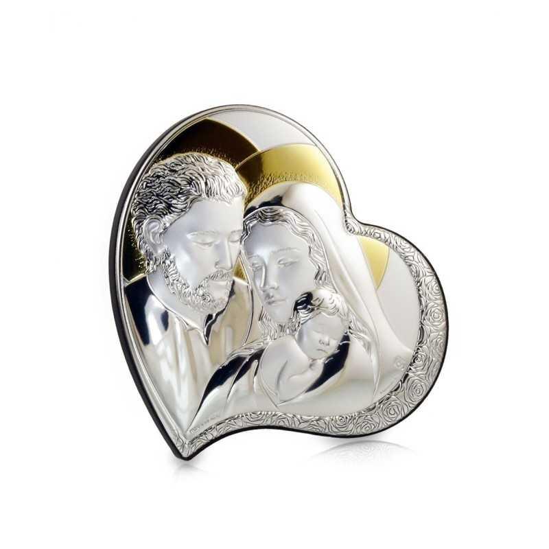 Cuore Sacra Famiglia icona 11x11 Zoppi Gioielli bijoux Oggettistica AEGF0405.2