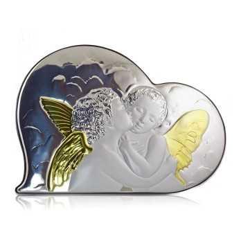 Icona con angeli in argento bilaminato Zoppi Gioielli bijoux Accessori religiosi ICO12A