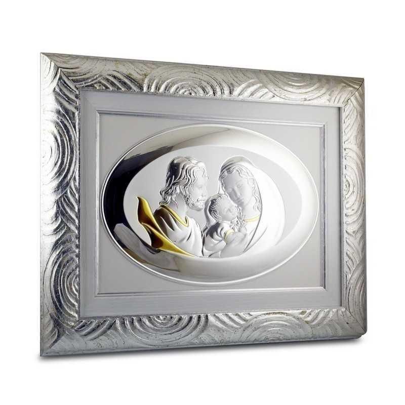 Quadro Sacra Famiglia in argento 28x35cm Zoppi Gioielli bijoux Accessori religiosi QUA20SF