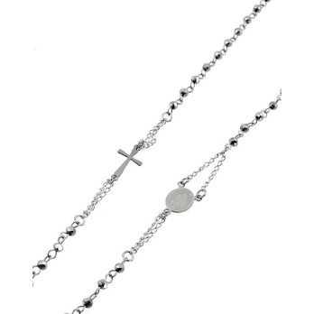 Girocollo rosario in acciaio pietre grige Alexia Gioielli Collane religiose RBCL10AC