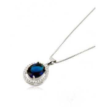 Collana in argento con zaffiro e pietre swarovski Alexia Gioielli Collane Donna RBCLZ29AG