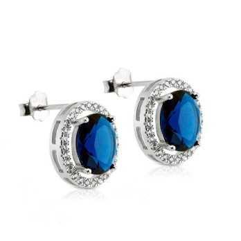 Orecchini in argento con zaffiro e pietre swarovski Alexia Gioielli Orecchini Donna RBORZ29AG