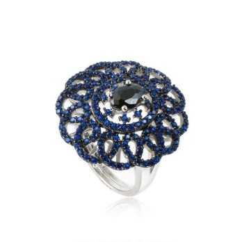 Anello in argento con pietre blu Zoppi Gioielli bijoux Anelli Donna ITAN700AG