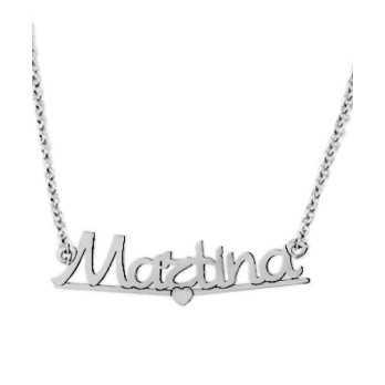 Collana con nome in argento Mi racconto gioielli Collane MF-AG1L01