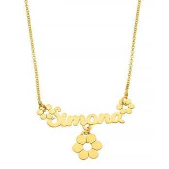Collana in argento con nome e ciondolo Mi racconto gioielli Collane MF-AG3NE01