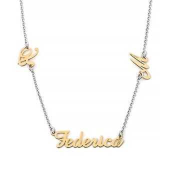 Collana in argento personalizzata con nome e iniziali Mi racconto gioielli Home MF-AG3PE8
