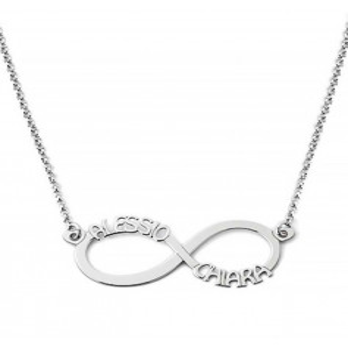 Collana con infinito personalizzabile in argento Mi racconto gioielli Home MF-AG2PE25