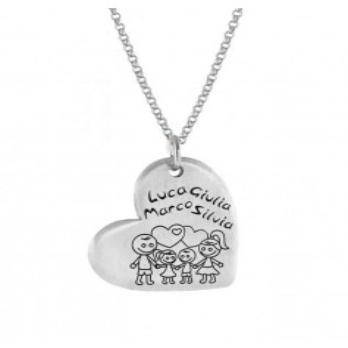 Ciondolo cuore personalizzabile in argento Mi racconto gioielli Home MF-AG6PA1