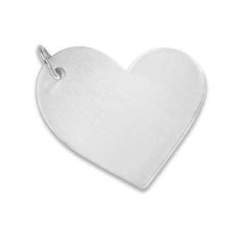 Ciondolo cuore personalizzabile in argento