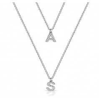 Doppia collana con iniziali zirconate in argento Mi racconto gioielli Home MF-AG3PE68