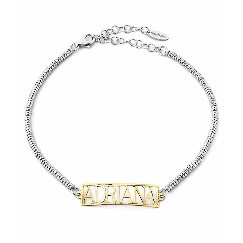 Bracciale personalizzato con nome in argento Mi racconto gioielli Home MF-AG5BR2