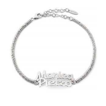 Bracciale personalizzato con nomi in argento