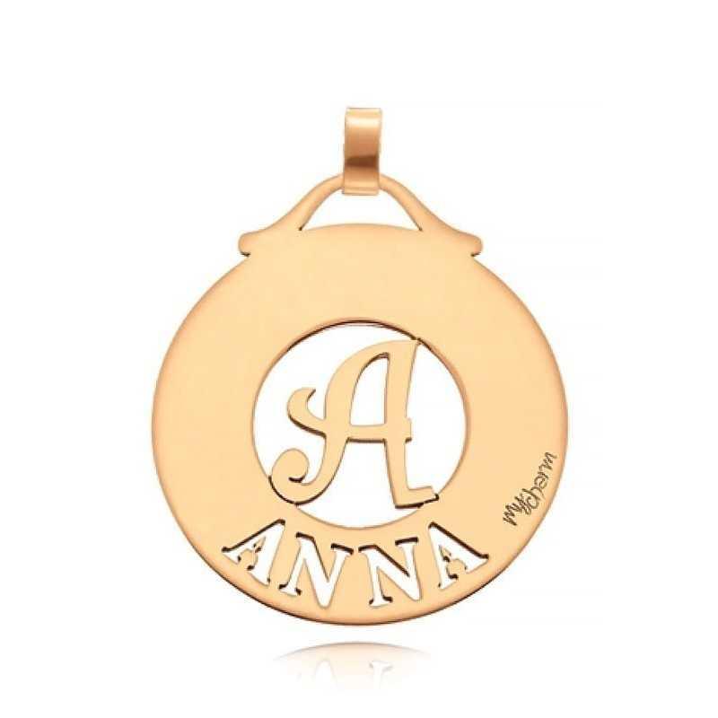 Ciondolo con nome e iniziale in argento Mi racconto gioielli Ciondoli MF-AG3RT01