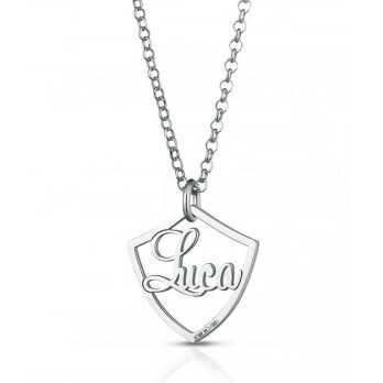 Collana in argento con scudo e nome Mi racconto gioielli Uomo MF-AG3PE88