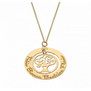 Collana oro con albero della vita personalizzabile Mi racconto gioielli Home MF-35FA04