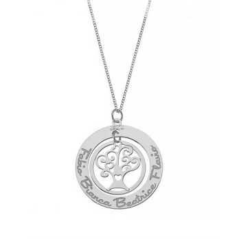 Collana con albero della vita personalizzabile Mi racconto gioielli Home MF-AG5FA04