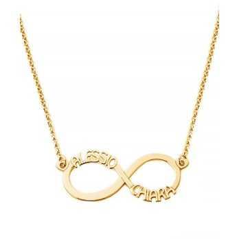Collana con infinito personalizzabile in oro Mi racconto gioielli Home MF-35OPE25