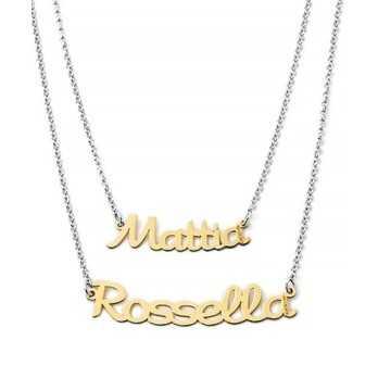 Doppia collana con nomi in oro Mi racconto gioielli Home MF-40OPE1