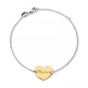 Bracciale in argento cuore in oro con nome Mi racconto gioielli Home MF-14OABR15