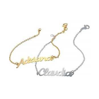 Bracciale in oro con nome personalizzato Mi racconto gioielli Bracciali MF-20LB01