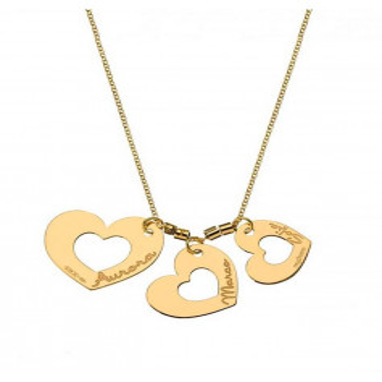 Collana con ciondoli a cuore con nomi Mi racconto gioielli Home MF-AG4FA06