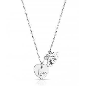 Collana con ciondolo cuore Love e cuoricini personalizzati