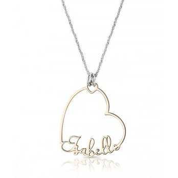 Collana con ciondolo a cuore con nome personalizzato Mi racconto gioielli Eventi MF-AG3PE57