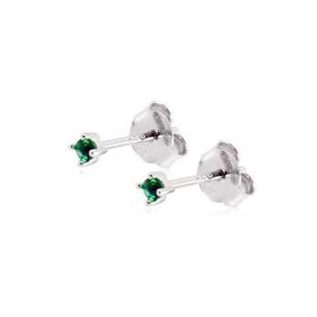 Orecchini punto luce verde 2mm Alexia Gioielli Orecchini Uomo ORP22AGV
