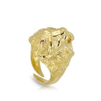 Anello chevalier leone dorato Alexia Gioielli Anelli Uomo RBAN40AG