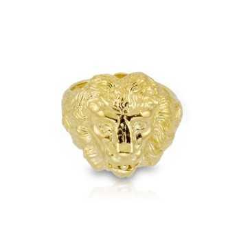 Anello chevalier leone dorato