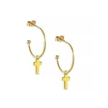 Orecchini in oro con charm a croce My Charm Orecchini MF-OOG6