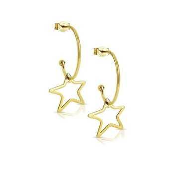 Orecchini in oro a semicerchio con stelle My Charm Orecchini MF-OOC2S