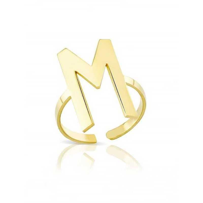 Anello in oro con iniziale My Charm Home MF-OAIN1