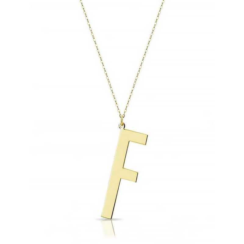 Collana in oro con iniziale My Charm Collane MF-OCIN1
