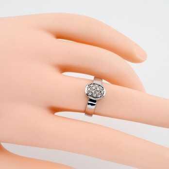 Anello in oro bianco e diamanti 0,12 ct