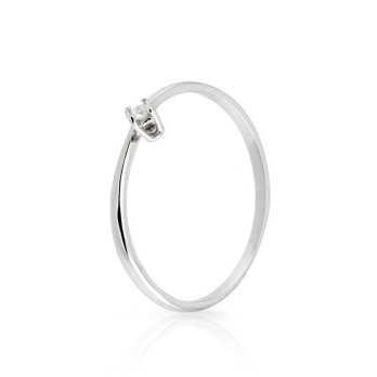 Anello con diamante 0,03 Ct. in oro bianco Prestige Gold Anelli oro diamanti KA45