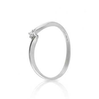 Anello solitario con diamante da 0,03 Ct. Prestige Gold Anelli oro diamanti KA50