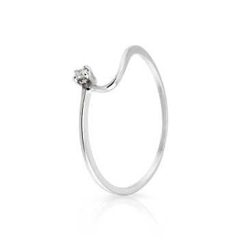 Anello solitario con diamante da 0,03 Ct. Prestige Gold Anelli oro diamanti KA47